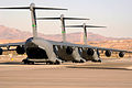 C-17 Globemasters taxi during the Mobility Air Forces Exercise at Nellis AFB.jpg
