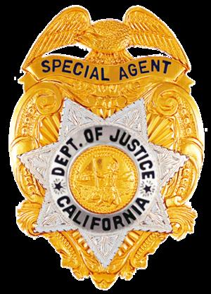 California Bureau of Investigation - Image: CA DOJ SA BADGE ACTUAL