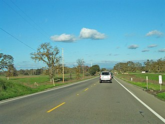 California State Route 12 - Route 12 between Lodi and Jackson