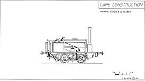 CGR 0-4-0ST 1874 - Image: CGR 0 4 0ST 1874 no. M14 drawing