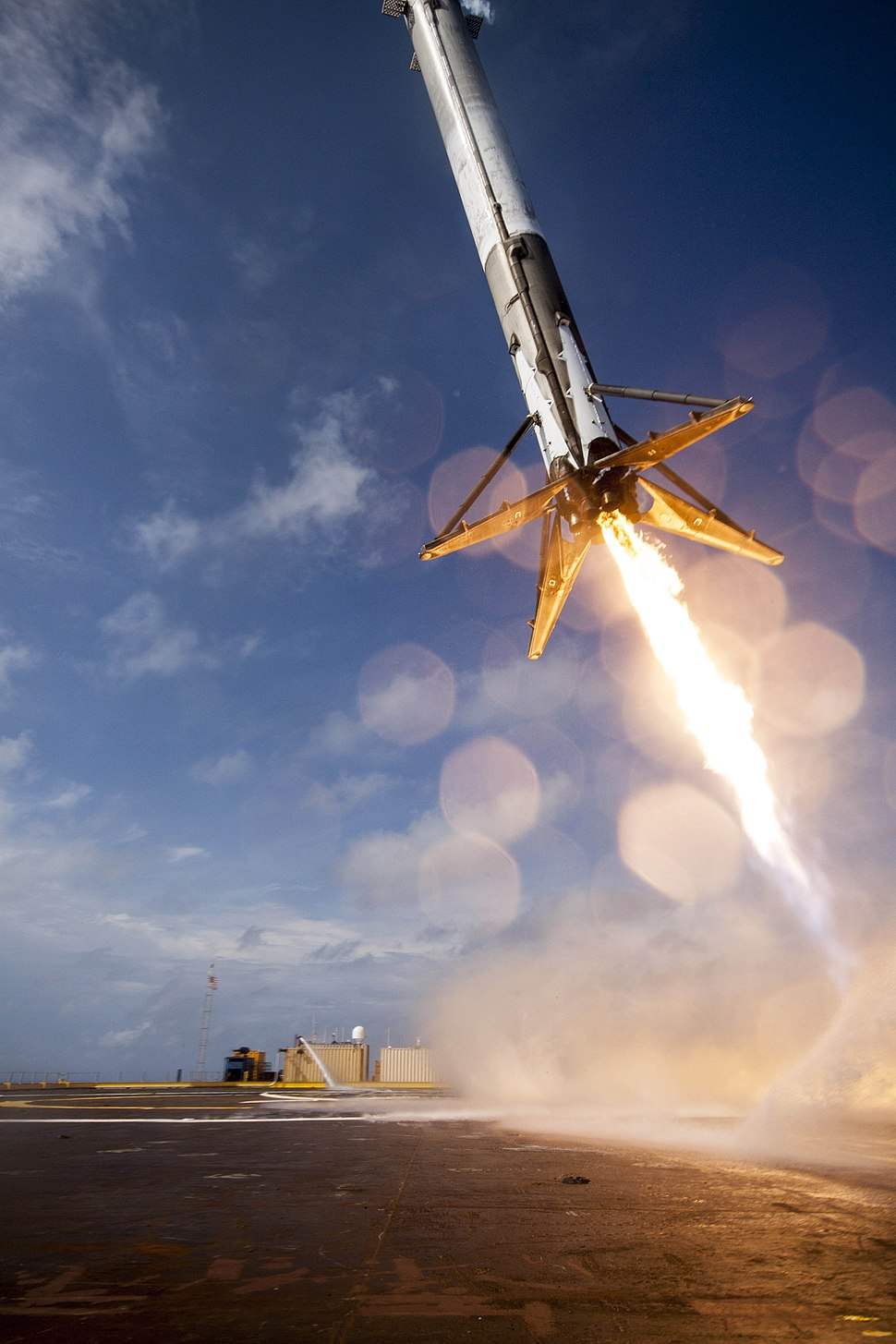 CRS-6 first stage booster landing attempt