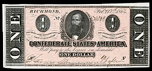 Clement Claiborne Clay - Clay depicted on a Confederate $1 banknote from 1864.