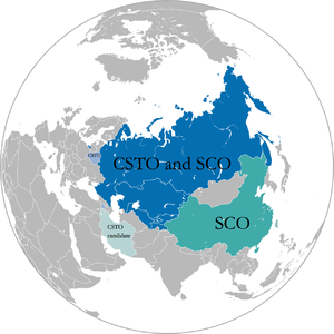 Sino-Russian relations since 1991 - SCO and CSTO members