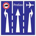 C 25 - Radenie jazdných pruhov pred križovatkou (vzor) 4.png