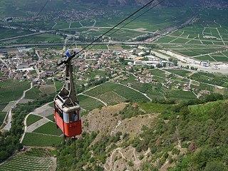Isérables Place in Valais, Switzerland