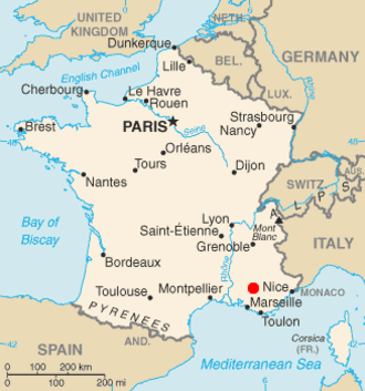 ITER - Location of Cadarache in France