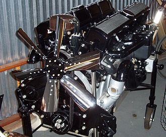 V16 engine - Early 1930s Cadillac 452 cui, OHV 16-cylinder 45-degree vee engine