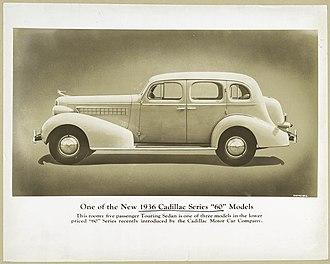 Cadillac Series 60 - Image: Cadillac 1936 Series 60 Five Passenger Touring Sedan