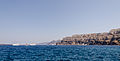Caldera - crater rim seen from Athinios port - Santorini - Greece.jpg