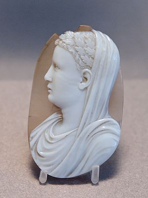 Engraved gem - Cameo of a Roman prince