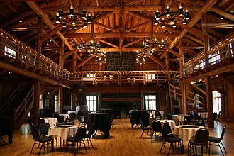 "Sunriver Resort - Former officers' mess at Camp Abbot, built 1943-1944 and today's ""Great Hall"""