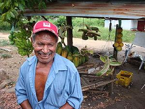 Old farmer in the Venezuela