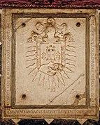 Campuzano Polanco Coat of Arms on Burial Slab