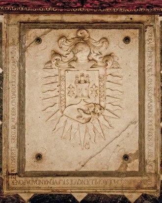 Captaincy General of Santo Domingo - Image: Campuzano Polanco Coat of Arms on Burial Slab