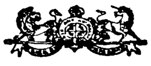 Logotype of the Canada Gazette, as used in 1868