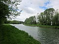 Canal de Saint-Quentin, north of the bifurcation to the Somme canal - panoramio.jpg