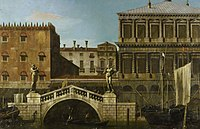 Canaletto (Venice 1697-Venice 1768) - Venice, Caprice View of the Zecca and Granaries with the Ponte della Pescaria - RCIN 405267 - Royal Collection.jpg