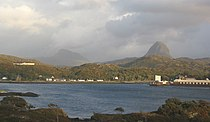 Canisp and Suilven above Loch Inver - geograph.org.uk - 186343.jpg