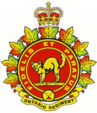 The Ontario Regiment (RCAC) - Image: Capbadge ontarioregt 150px