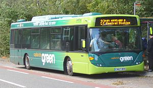 Thornhill, Cardiff - The Capital City Green bus on Service 27