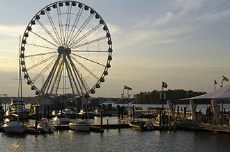 National Harbor, Maryland - Capital Wheel, a Ferris wheel, at National Harbor