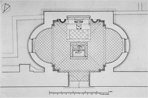 Santa Corona, Vicenza - Plan of Valmarana Chapel (Bouleau 1999)