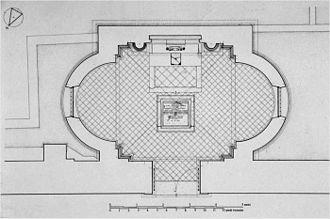 Santa Corona, Vicenza - Image: Cappella Valmarana pianta Bouleau 1999