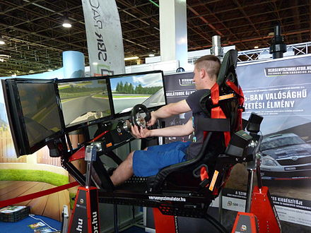 Car racing simulator Car racing simulator - SBR Racing, Construma, 2015.04.17.JPG