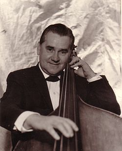 Carl Frederick Tandberg (1910-1988) circa 1940-1950 with his bass guitar.jpg