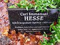 Carl Immanuel Hesse hauaplaat Jõhvi surnuaial, 4. november 2012.jpg
