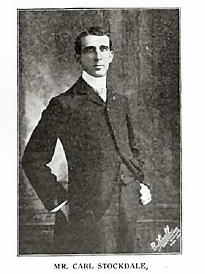 Carl Stockdale - Stockdale in a photo from Book Notes (1901)