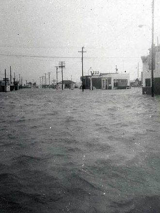 Hurricane Carla - Tidal flooding caused by Hurricane Carla