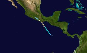 Hurricane Carlotta (2012) - Image: Carlotta 2012 track