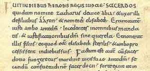 escritura del latin: