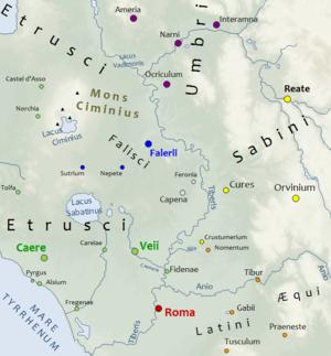 Veii - Neighbourhood of Veii in 450 BC