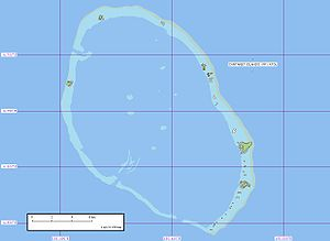Carteret Islands - Map of the atoll