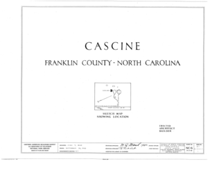 Cascine, State Route 1702, Louisburg, Franklin County, NC HABS NC,35-LOUBU.V,1- (sheet 0 of 12).png