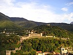 Montebello and Sasso Corbaro castles above Bellinzona