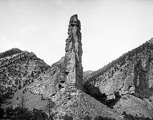 Castle Gate, Utah - Castle Gate spires, near old townsite