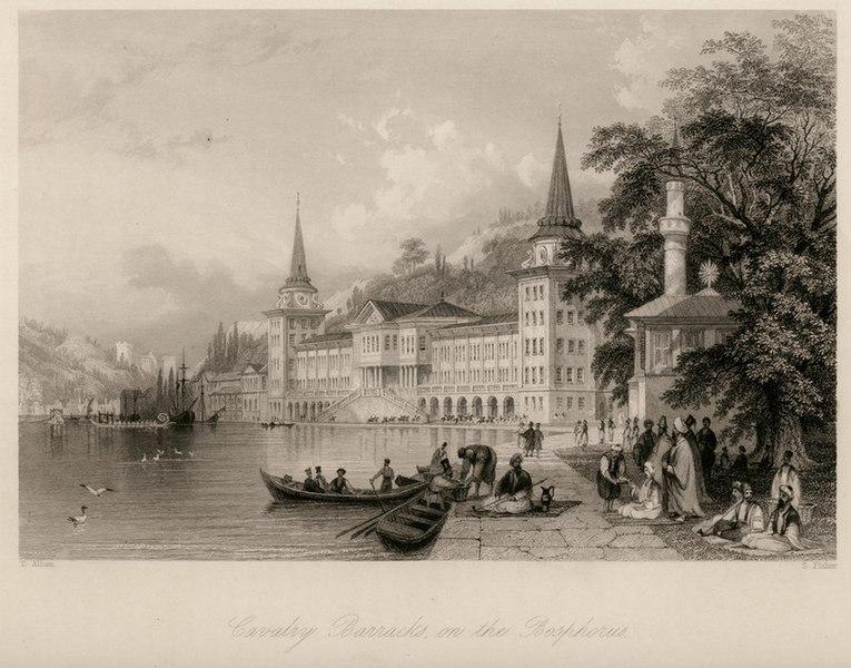 File:Cavalry Barracks on the Bosphorus - Walsh Robert & Allom Thomas - 1836.jpg
