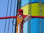 Close-up shot of WindSeeker's hydraulic dampers. Taken June 22, 2011.