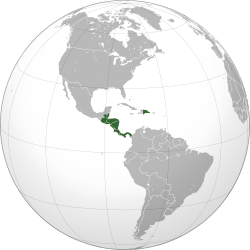 Central American Integration System (orthographic projection).svg