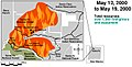 Cerro Grande May 12-19 2000 GAO Fire Progression.jpg