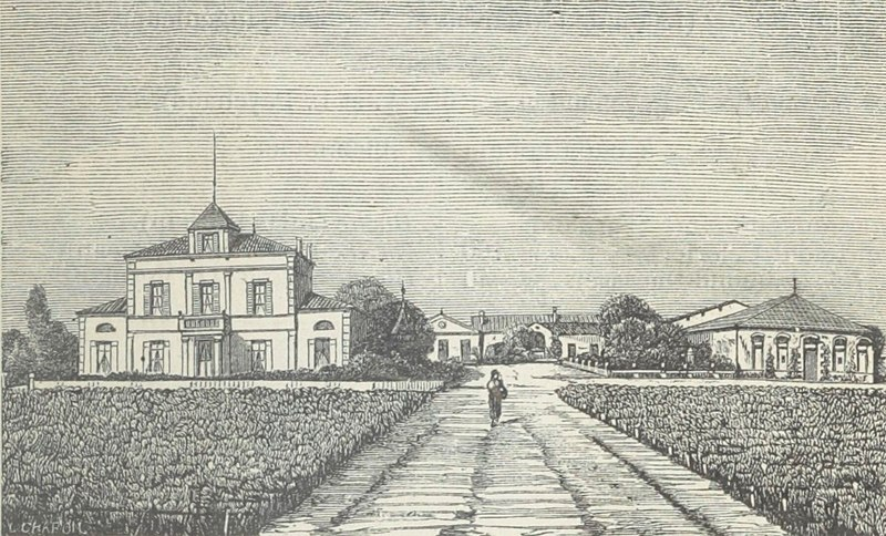 Illustration of Château Montrose in 1898