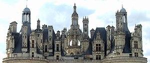 Vista de los techos y chimeneas - Castillo de chambord ...