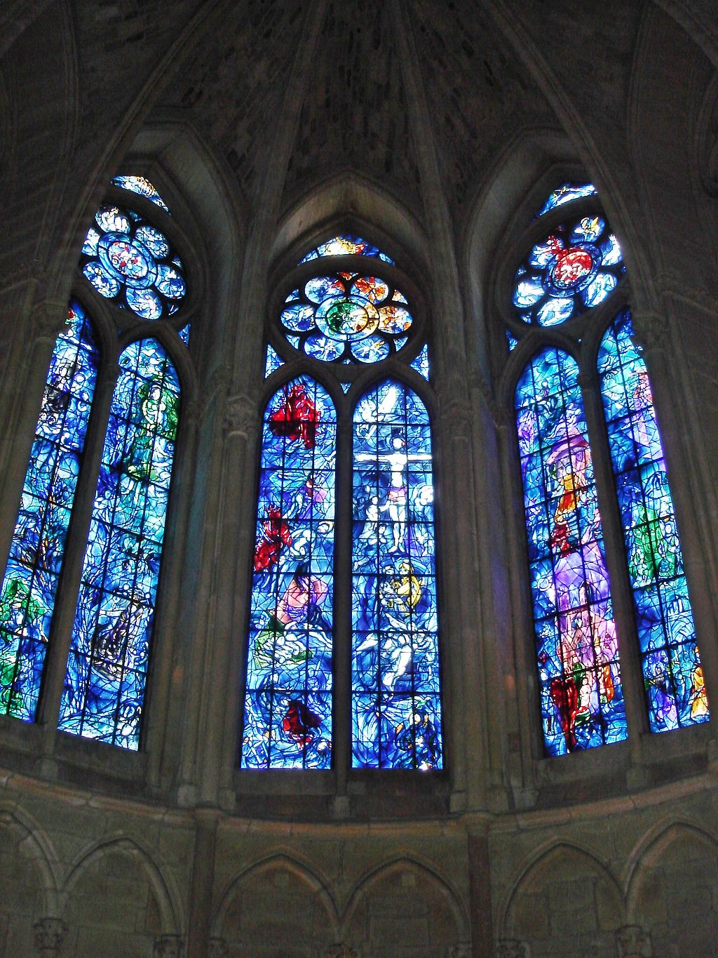 Catedral de Reims, Vitrales Marc Chagall.
