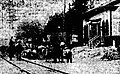 Changing track grade at Union Square station, June 1911.jpg