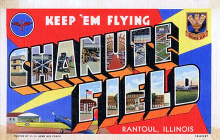 Chanute Air Force Base - 1940s postcard - Chanute Air Force Base