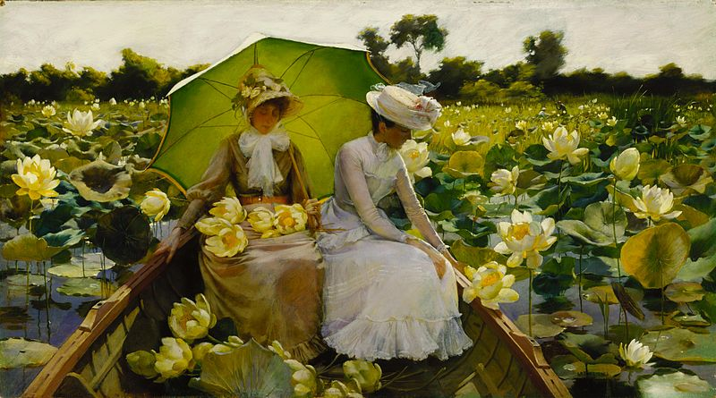 File:Charles Courtney Curran - Lotus Lilies.jpg