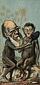 Charles Robert Darwin, as an ape, holds a mirror up to another. Wellcome V0001472 (cropped).jpg